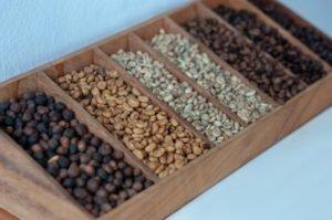 رنگ دانههای قهوه